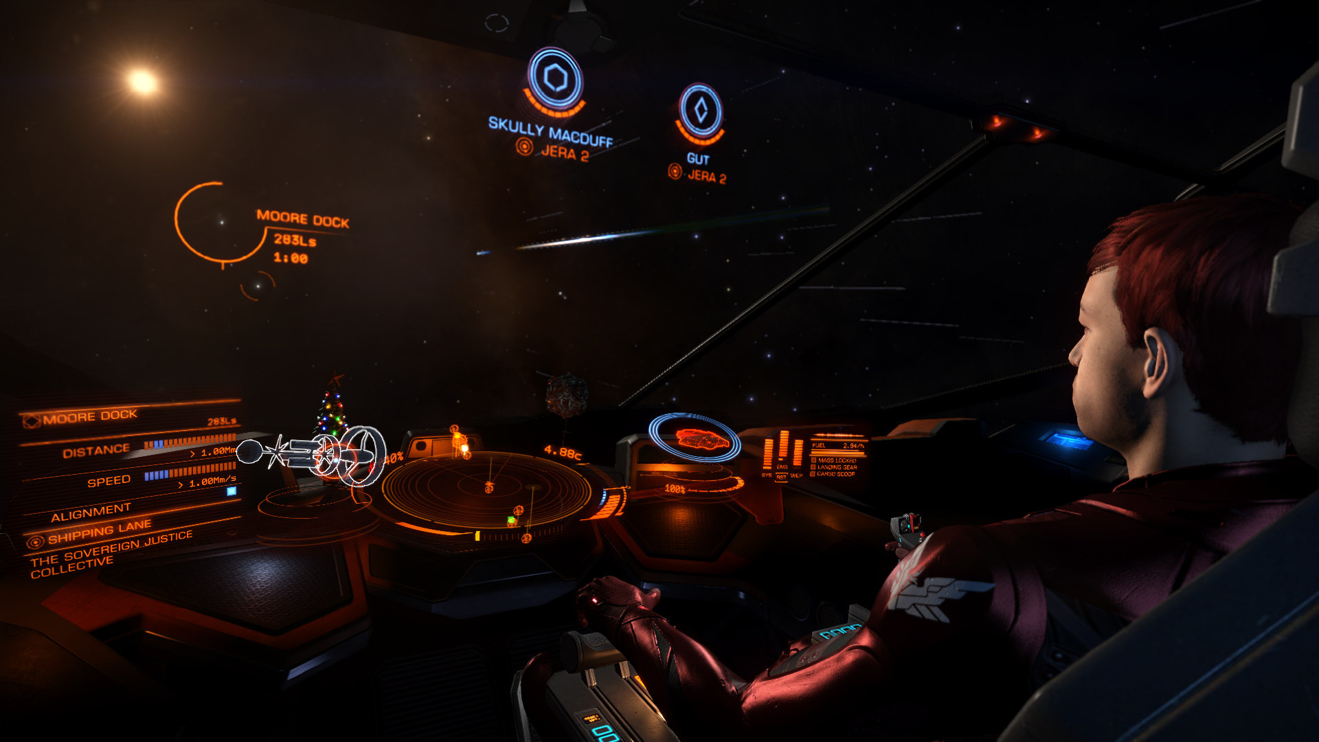 Returning from High Combat Zone in the Jera system ...