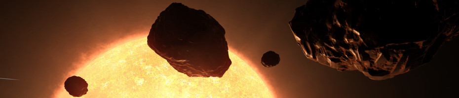 Small asteroid field close to sun ...